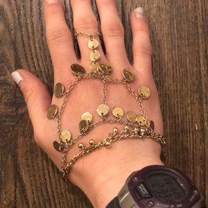 Jewelry - Gold Multilayer Hand Bracelet